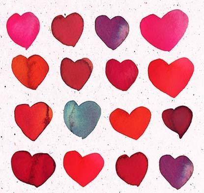 unique red heart