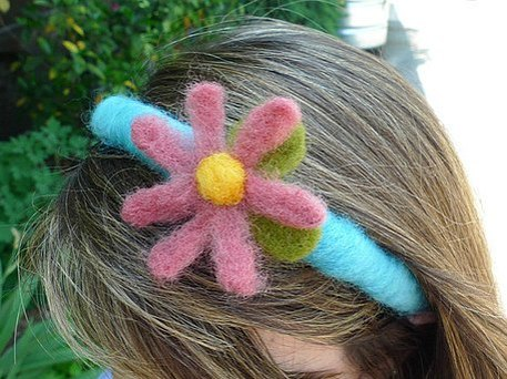 felted flower headband