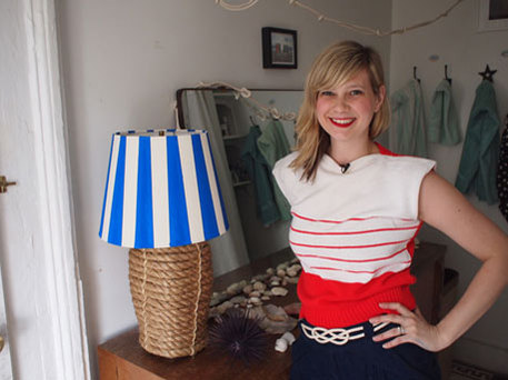 how to revamp nautical lamp