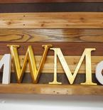 Wall Monogram with Plaster Letters
