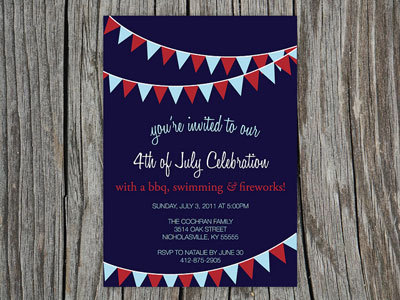 Fourth of July holiday invitation