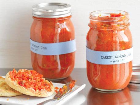 carrot almond jam recipe