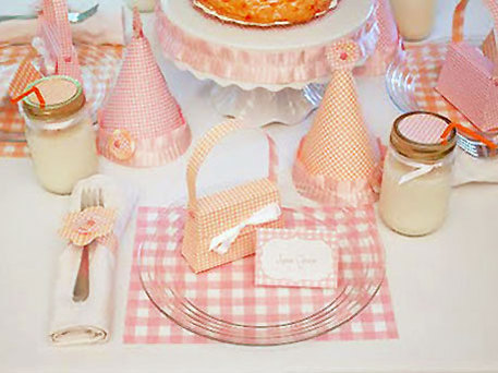 gingham theme kids party idea