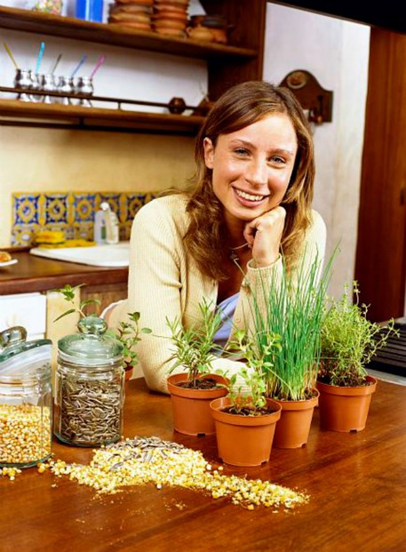 woman plans 4-season container garden