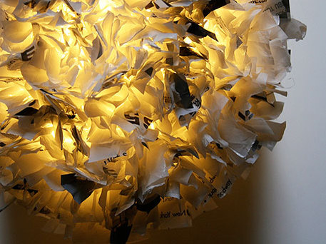 plastic bag pendant lamp