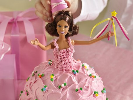 princess doll birthday cake