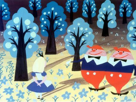 Mary Blair Tweedledee art