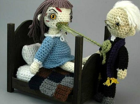 crochet amigurumi of the exorcist