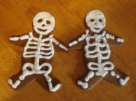 halloween food, skeleton cookies