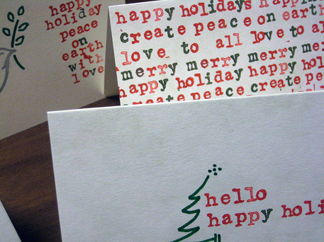 handmade christmas card idea featuring stamped lettering