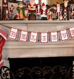 Easy Christmas Bunting Printable