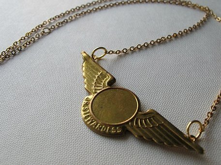 junior stewardess gold necklace
