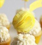 Cheery Pom-Pom Cupcake Toppers