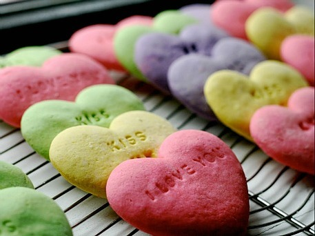 Valentine's sugar cookie conversation hearts