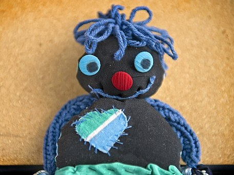 hand-sewn rag doll