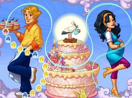 screengrab of online craft game, Cake Mania