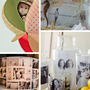 photo mobile, shadowbox with photos, lampshade with photo collage, 3-D photo collage
