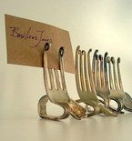 Upcycle Silver Forks into Rustic Card Holders