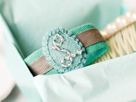 monogrammed ribbon bracelet