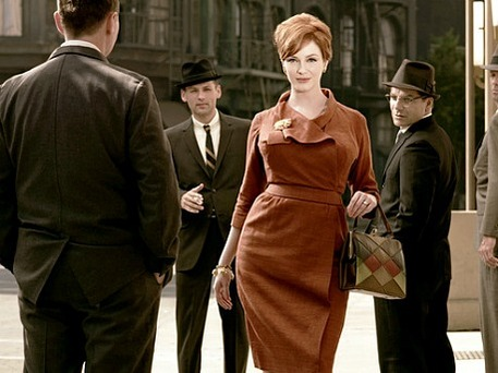 'Mad Men' star wears vintage dress