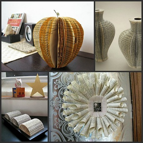 upcycled book crafts and home decor