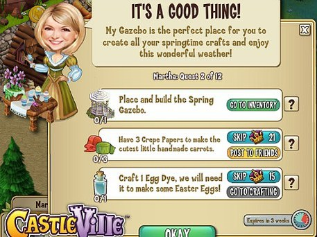 Martha Stewart on online game CastleVille