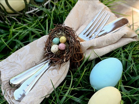 easter egg craft napkin rings