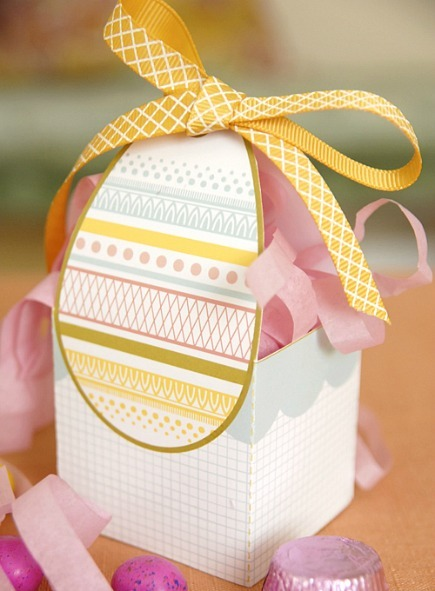 Easter egg basket printable