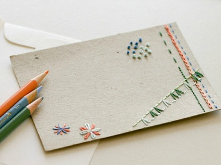 embroidered thank you cards