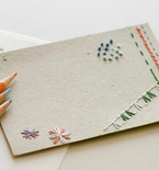 Hand-Stitched Stationery