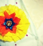 Cinco de Mayo Paper Flower Brooches by the Crafty Chica