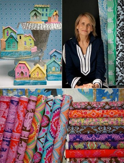 Fabric designer Jennifer Paganelli and her fabric and craft designs