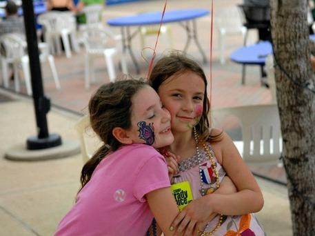 young girls at craft fair