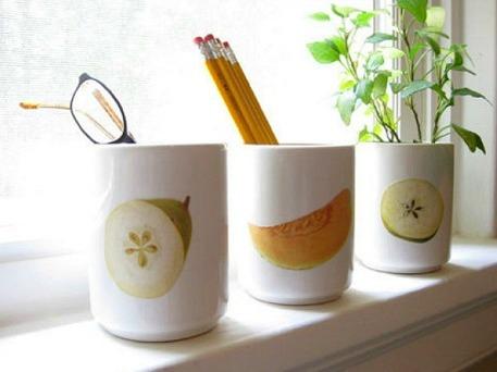 images on mug secured with mod podge
