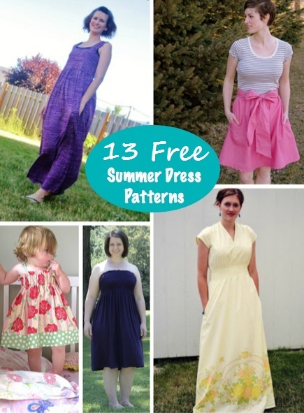 12 Free Sundress Patterns for Summer