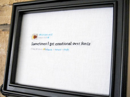 Kanye West's tweet embroidery
