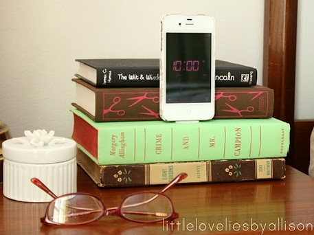 old book crafts diy iphone docking station from old books