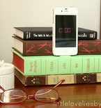 Old Book Crafts — iPod Charging Station