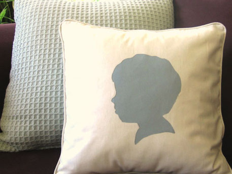 DIY Home Decor Idea - Easy Silhouette PIllow