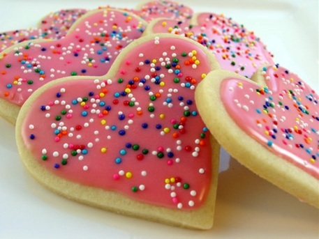 Traditional sugar cookies with frosting