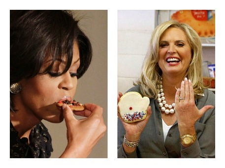 cookie bake-off between Anne Romney and Michelle Obama