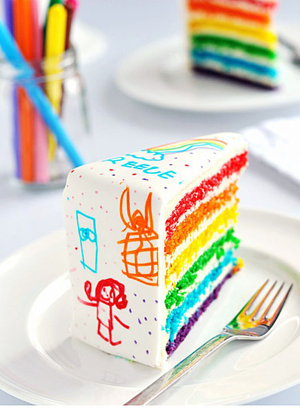 icing pens decorate a rolled fondant cake