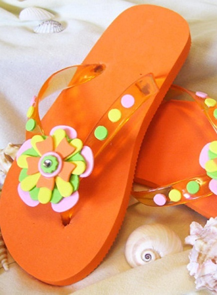 diy flip flops refashion craft