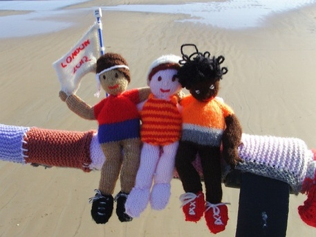 Olympic Knitted 2012 London Dolls