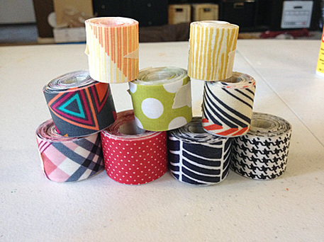 homemade fabric tape