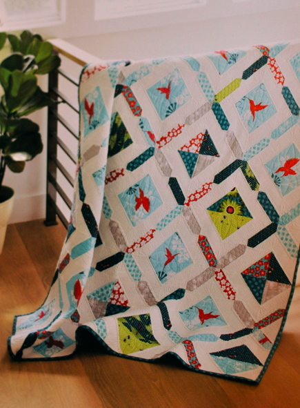 Dream Garden Diamonds Quilt from Fat Quarterly Shape Workshop for Quilters, Lark Crafts