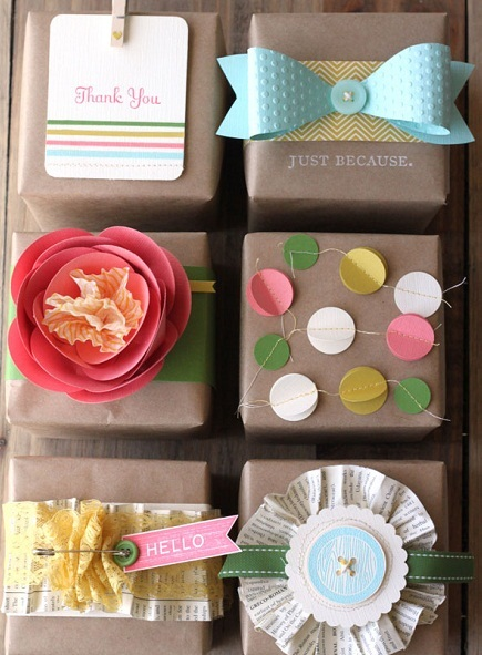 diy bridesmaid gifts wrapping paper
