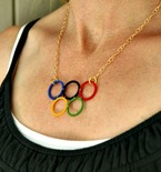 DIY Olympic Rings Necklace
