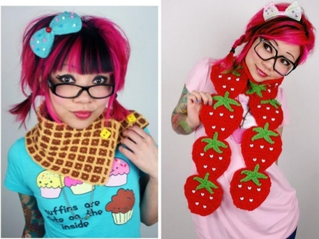 How to Crochet Food Scarves