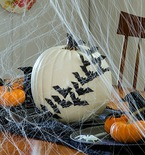 Decorate with No-Carve Pumpkins for Halloween!